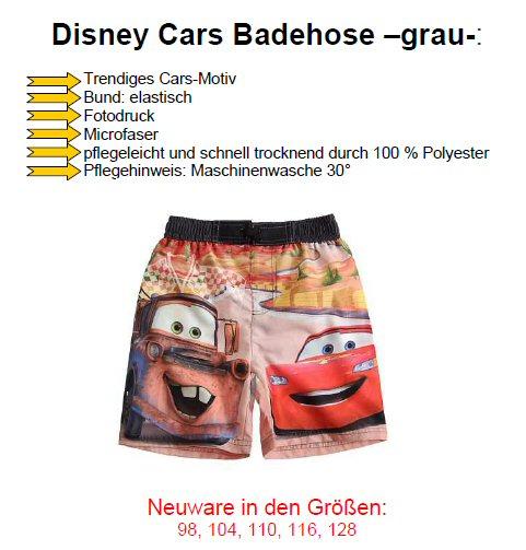 Badeshorts Disney Cars Kinder Badehose Größe 98 bis 128 NEU *